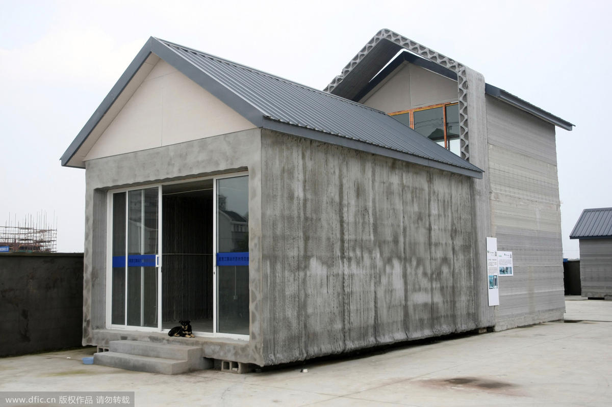3shouse4 3D Printed Houses Constructed in Shanghai